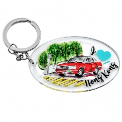 I Love Hong Kong Series Keychain - Hong Kong Taxi