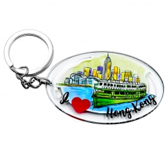 I Love Hong Kong Series Keychain - Star Ferry