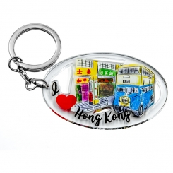 I Love Hong Kong Series Keychain - China Motor Bus
