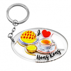 I Love Hong Kong Series Keychain - Afternoon Tea