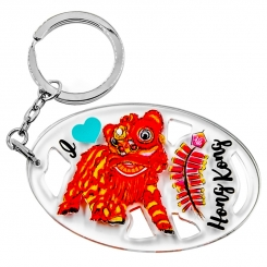 I Love Hong Kong Series Keychain - Lion Dance