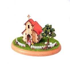 Mini House Diorama Church Kit