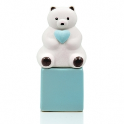 Heart Cube Bear Ceramic Diffuser Gift Set + 60 ml Fragrance (+ Wooden Coaster - Optional)
