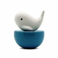 Willy Whale Ceramic Diffuser Gift Set + 60 ml Fragrance (+ Wooden Coaster - Optional)