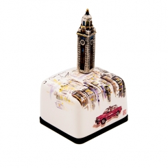 Hong Kong Special Edition Series Ceramic Music Box (Clock Tower)