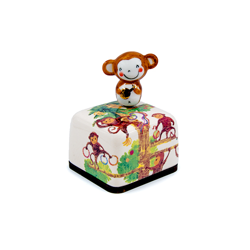 Moonyart (Moony Orgel)- Chinese Zodiac Ceramic Music Box (Monkey)