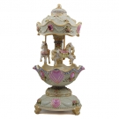 Carousel Merry-Go-Round Ivory Music Box