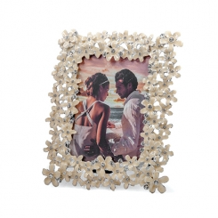 "3.5""x5"" White Floral Embellished Photo Frame"
