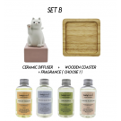 SET B - Ceramic Diffuser  (Personalization - optional)