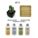 SET D- Ceramic Diffuser  (Personalization - optional)