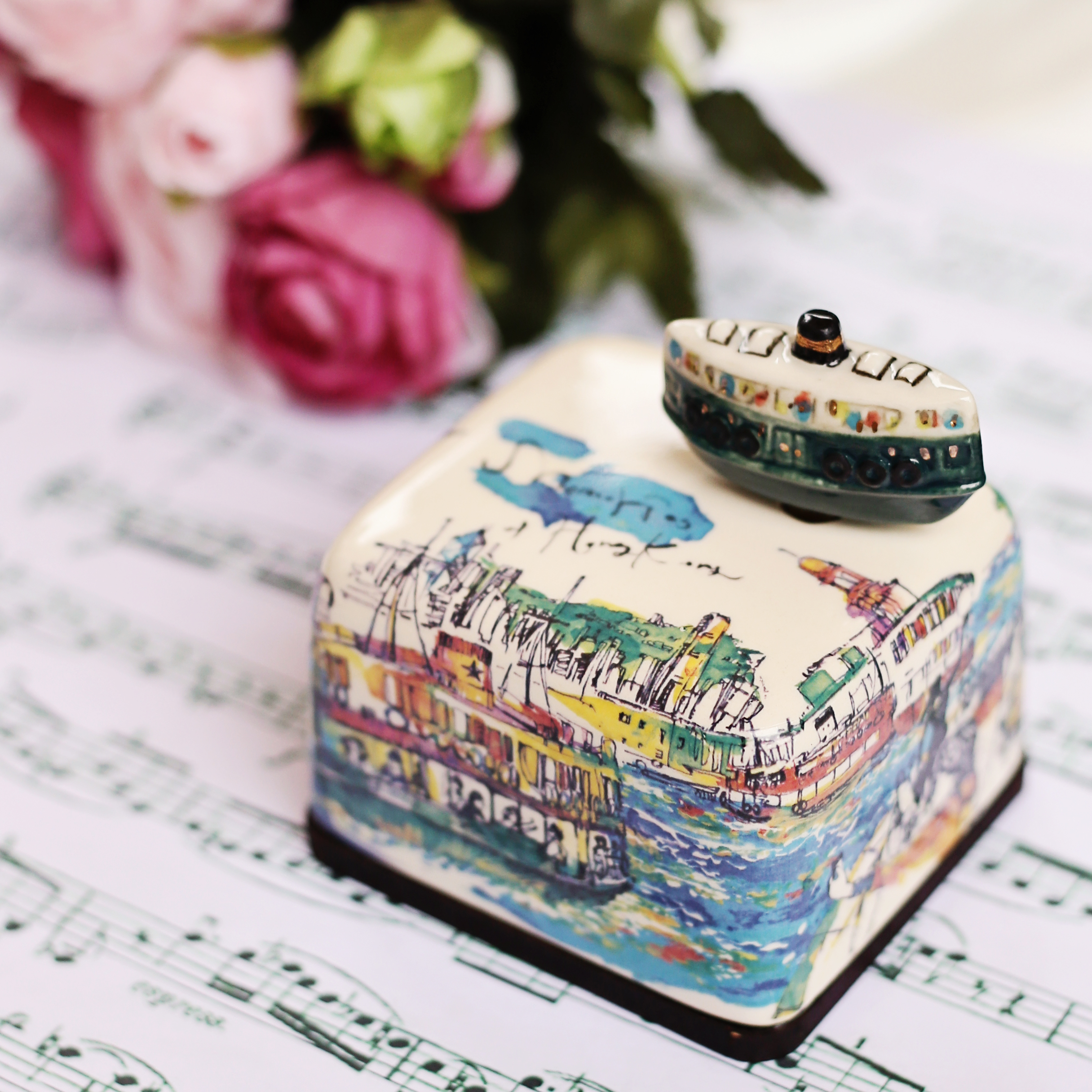 Korean Porcelain Music Boxes